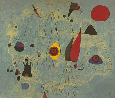 Joan Miro, The Bull Fight Fine Art Reproduction Oil Painting