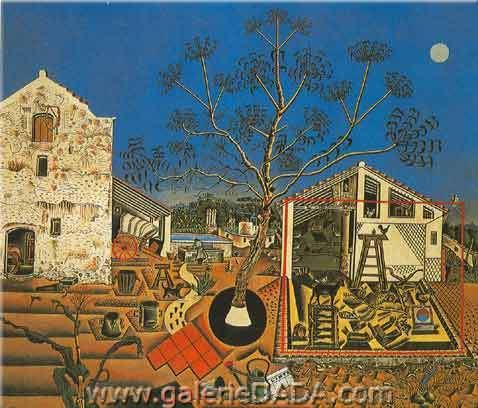 Joan Miro, The Farm Fine Art Reproduction Oil Painting
