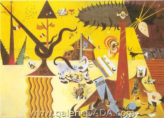 Joan Miro, The Tilled Field Fine Art Reproduction Oil Painting