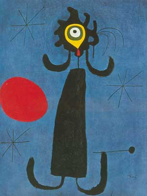 Joan Miro, Woman in Front of the Sun Fine Art Reproduction Oil Painting