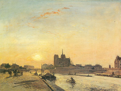 Johann Barthold Jongkind, Notre Dame Fine Art Reproduction Oil Painting