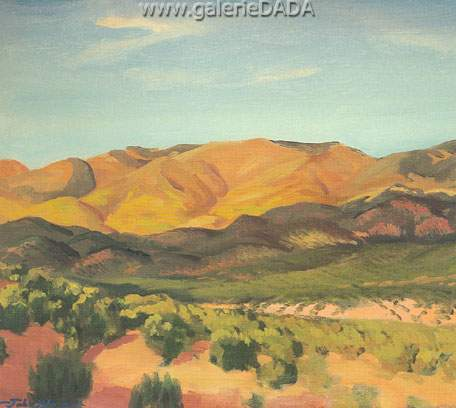 John Sloan, Mountains Autumn (Santa Fe) Fine Art Reproduction Oil Painting