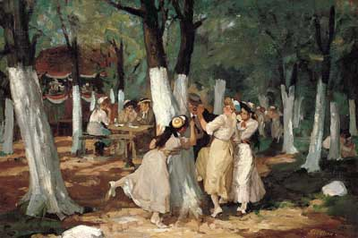 John Sloan, The Picnic Grounds Fine Art Reproduction Oil Painting