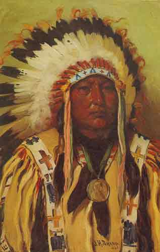 Joseph Henry Sharp, Chief Spotted Elk Sioux Fine Art Reproduction Oil Painting