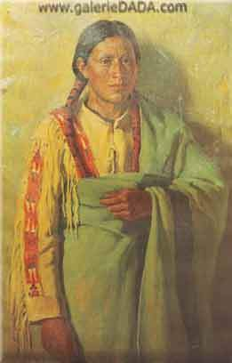Joseph Henry Sharp, Taos Indian Fine Art Reproduction Oil Painting