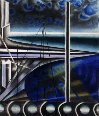 Joseph Stella, Metropolitan Port Fine Art Reproduction Oil Painting
