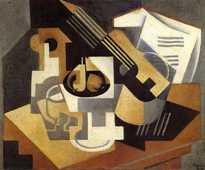 Juan Gris, Guitar and Fruit Dish Fine Art Reproduction Oil Painting