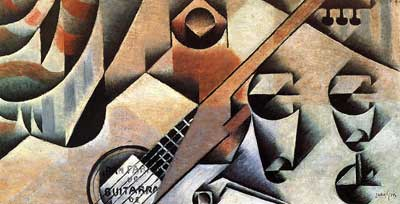 Juan Gris, Guitar and Glasses Fine Art Reproduction Oil Painting