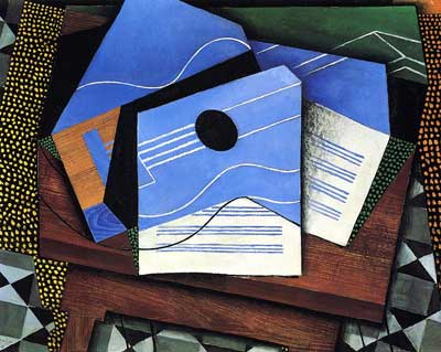 Juan Gris, Guitar on a Table Fine Art Reproduction Oil Painting