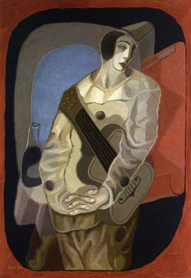 Juan Gris, Pierrot with Guitar Fine Art Reproduction Oil Painting
