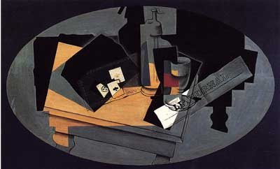 Juan Gris, Playing Cards and Siphon Fine Art Reproduction Oil Painting