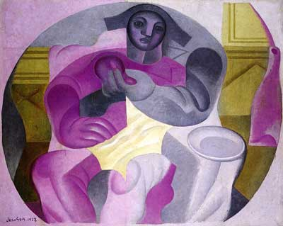 Juan Gris, Seated Harlequin Fine Art Reproduction Oil Painting