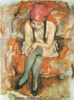 Jules Pascin, Claudine Resting Fine Art Reproduction Oil Painting