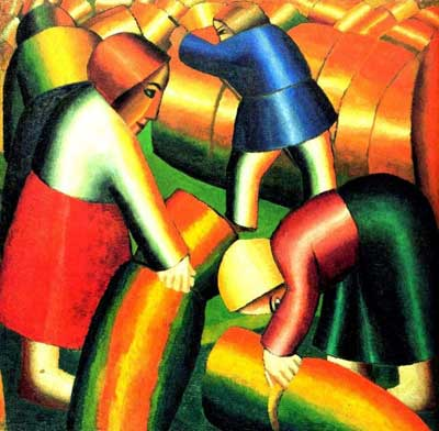 Kasimar Malevich, Taking in the Rye Fine Art Reproduction Oil Painting