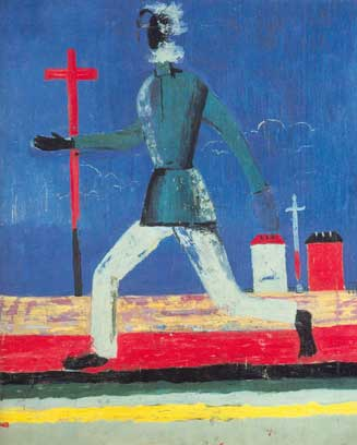 Kasimar Malevich, Untitled (Man Running) Fine Art Reproduction Oil Painting