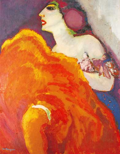 Kees van Dongen, Dancer in Red Fine Art Reproduction Oil Painting