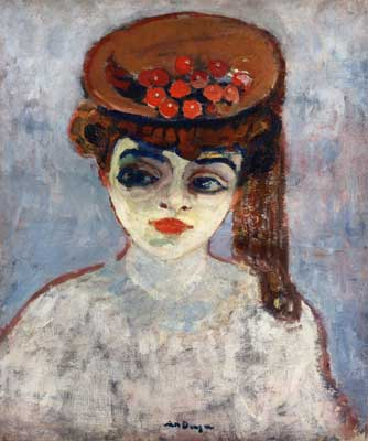 Kees van Dongen, Hat with Cherries Fine Art Reproduction Oil Painting