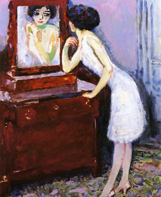 Kees van Dongen, In Front of the Mirror Fine Art Reproduction Oil Painting