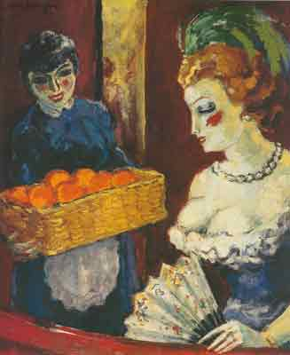 Kees van Dongen, Woman and Orange Seller Fine Art Reproduction Oil Painting