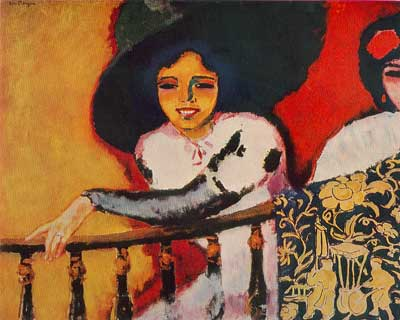 Kees van Dongen, Woman at the Balustrade Fine Art Reproduction Oil Painting