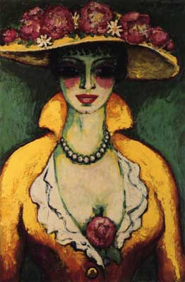 Kees van Dongen, Woman with Flowered Hat Fine Art Reproduction Oil Painting