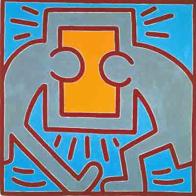 Keith Haring, Untilted No.2 Fine Art Reproduction Oil Painting
