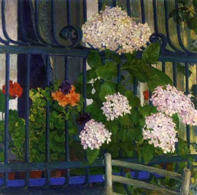 Koloman Moser, Geraniums Fine Art Reproduction Oil Painting