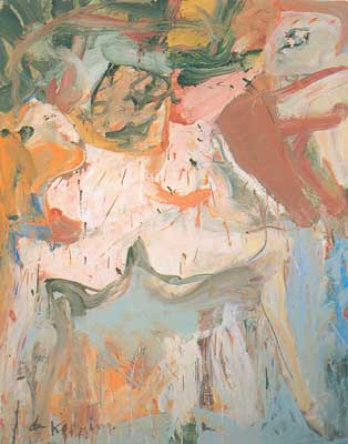 Willem De Kooning,  The Visit Fine Art Reproduction Oil Painting