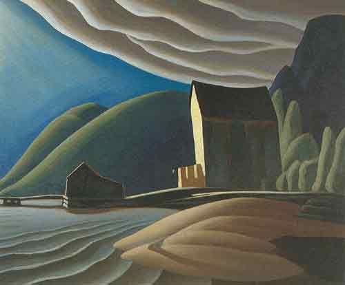 Lawren Harris, Ice House Coldwell Lake Superior Fine Art Reproduction Oil Painting