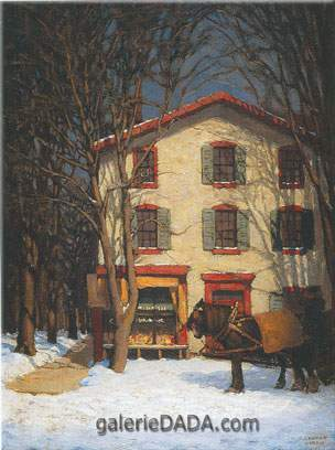 Lawren Harris, The Corner Store Fine Art Reproduction Oil Painting