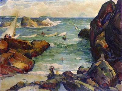 Leon Kroll, Seascape Fine Art Reproduction Oil Painting