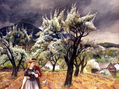 Leon Kroll, Spring Romance Fine Art Reproduction Oil Painting