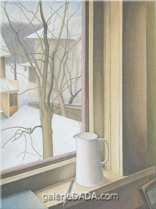 Lionel FitzGerald, From an Upstairs Window Winter Fine Art Reproduction Oil Painting