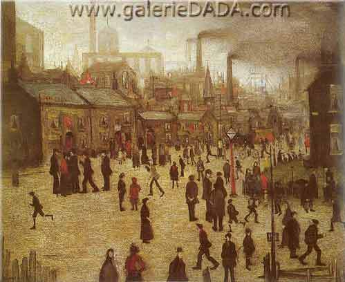 L.S. Lowry, A Manufacturing Town Fine Art Reproduction Oil Painting
