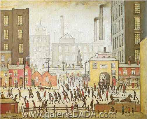 L.S. Lowry, Coming from the Mill Fine Art Reproduction Oil Painting
