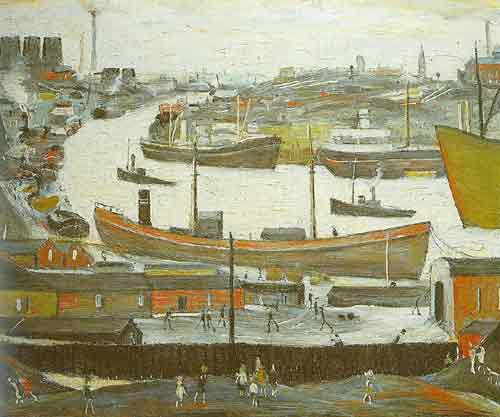 L.S. Lowry, River Wear at Sunderland Fine Art Reproduction Oil Painting