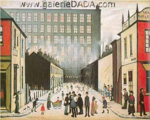 L.S. Lowry, Street Scene Fine Art Reproduction Oil Painting