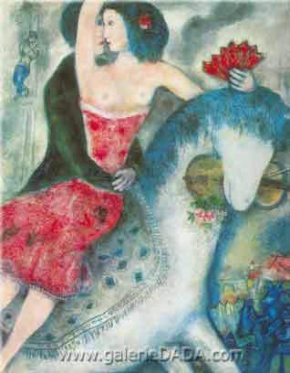 Marc Chagall, Equestrienne Fine Art Reproduction Oil Painting