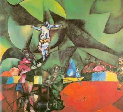 Marc Chagall, Golgotha Fine Art Reproduction Oil Painting