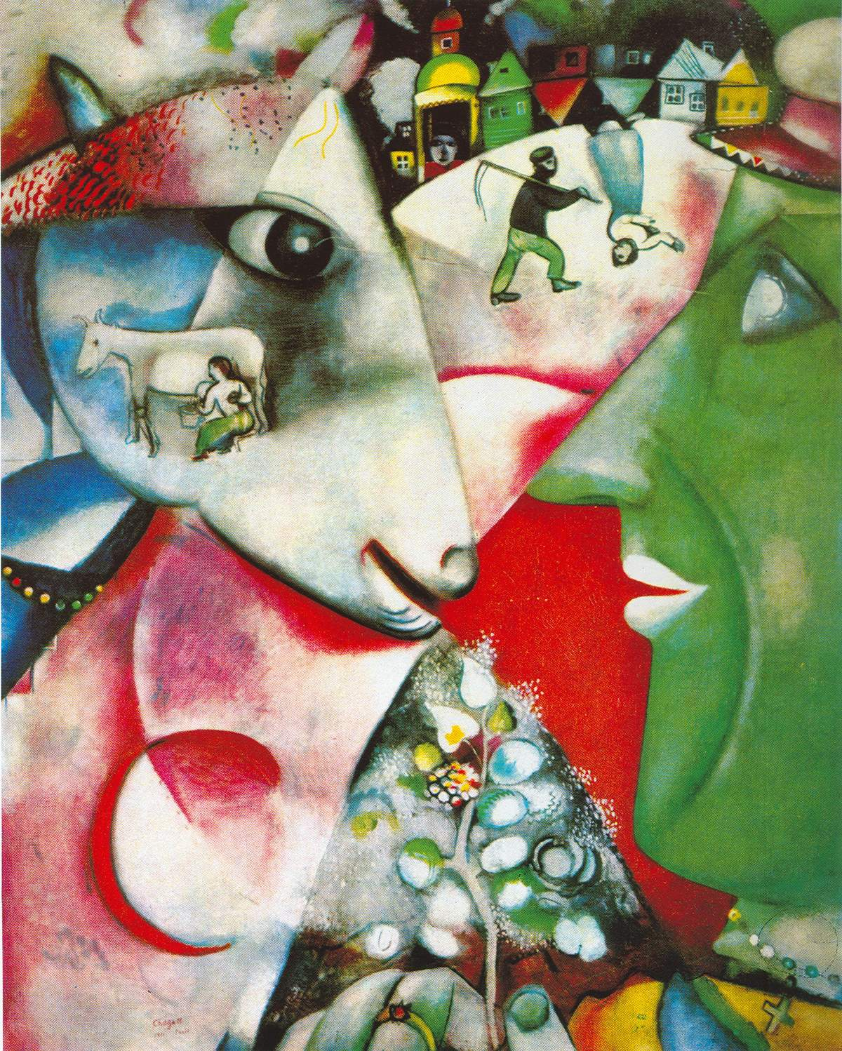 Marc Chagall, I and the Village Fine Art Reproduction Oil Painting