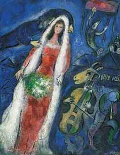 Marc Chagall, La Mariee Fine Art Reproduction Oil Painting