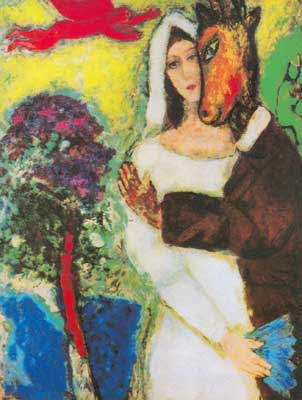 Marc Chagall, Midsummers Night Dream Fine Art Reproduction Oil Painting