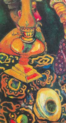Marc Chagall, Still Life with Lamp Fine Art Reproduction Oil Painting