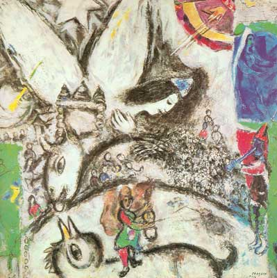 Marc Chagall, The Big Circus Fine Art Reproduction Oil Painting