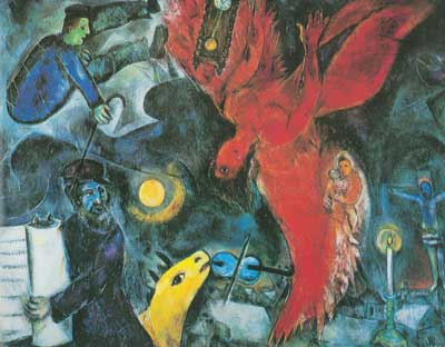 Marc Chagall, The Falling Angel Fine Art Reproduction Oil Painting