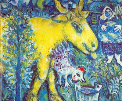 Marc Chagall, The Farmyard Fine Art Reproduction Oil Painting