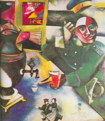 Marc Chagall, The Soldier Drinks Fine Art Reproduction Oil Painting