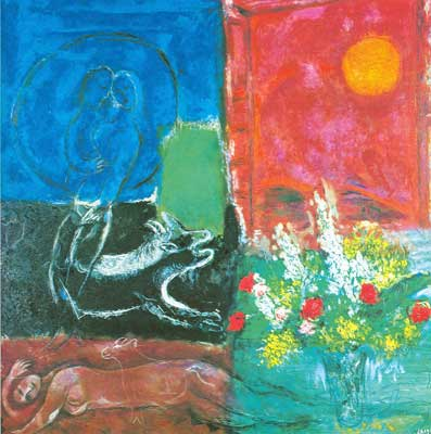 Marc Chagall, The Sun of Poros Fine Art Reproduction Oil Painting