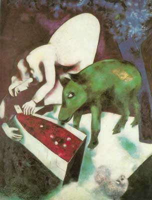 Marc Chagall, The Watering Trough Fine Art Reproduction Oil Painting