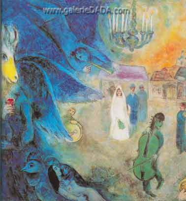 Marc Chagall, The Wedding Candles Fine Art Reproduction Oil Painting